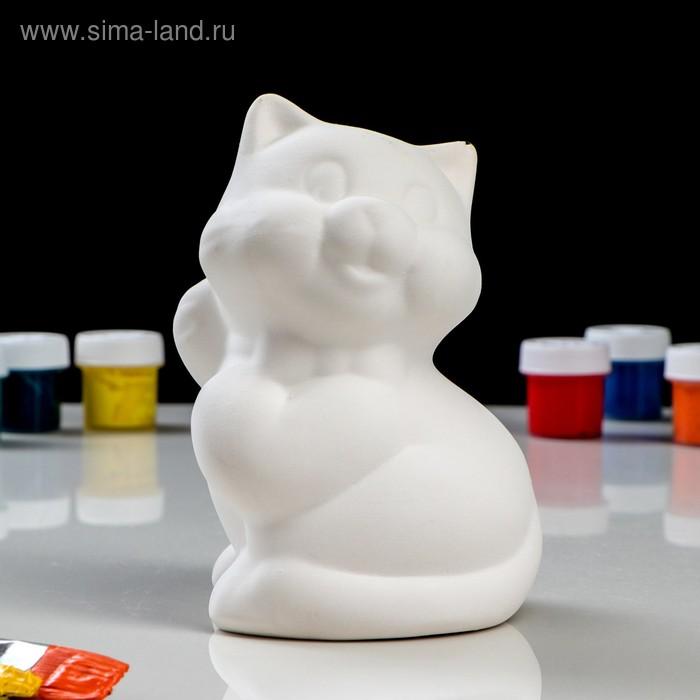 """Копилка-раскраска """"Котёнок"""", под роспись, 13 см"""