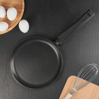 Сковорода блинная «Премьера», d=22 см, пластиковая ручка, антипригарное покрытие