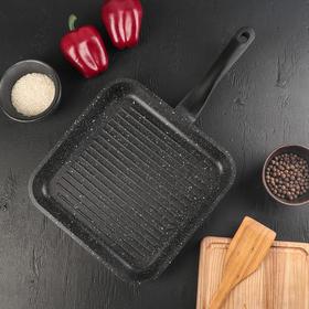 Сковорода-гриль «Орион», d=26 см, ручка soft-touch, антипригарное покрытие