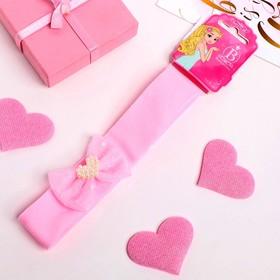 Повязка для волос 'Малышка' 3*17 см, сердечко, розовый Ош