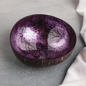 Чаша «Панно», d=13 см (±3), из скорлупы кокосового ореха