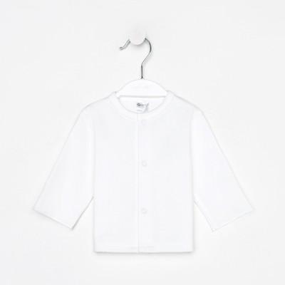 Кофточка универсальная, рост 74/80 см, цвет белый