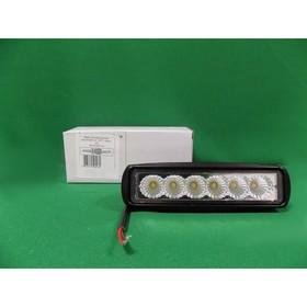 Фара светодиодная OFF ROAD, KS-W106F-CH, 6 диодов, 18 Вт, рассеиваемый свет, алюминиевый корпус, пылевлагозащищенный, 160х55х45 мм, 12/24 В Ош