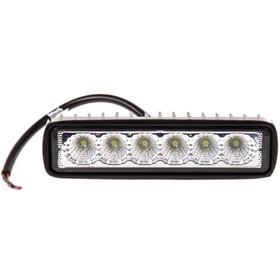 Фара светодиодная OFF ROAD, KS-W106F-DR, 6 диодов, 18 Вт, рассеиваемый свет, алюминиевый корпус, пылевлагозащищенный, 153х37х41 мм, 12/24 В Ош