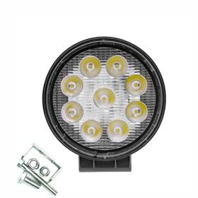 Фара светодиодная OFF ROAD, KS-WR009S (SLIM), 9 диодов, 27 Вт, направленный свет, алюминиевый корпус, пылевлагозащищенный, 115х30х125 мм, 12/24 В Ош
