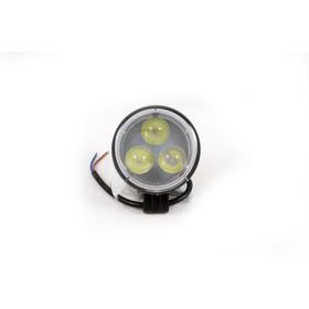 Фара светодиодная OFF ROAD, KS-WR303S-L, 3 диода, 9 Вт, линза, направленный свет, алюминиевый корпус, пылевлагозащищенный, 80х45х80 мм, 12/24 В Ош