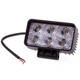 Фара светодиодная OFF ROAD, KS-WSQ206F, 6 диодов, 18 Вт, рассеиваемый свет, алюминиевый корпус, пылевлагозащищенный, 110х50х80 мм, 12/24 В Ош