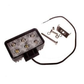 Фара светодиодная OFF ROAD, KS-WSQ206S, 6 диодов, 18 Вт, направленный свет, алюминиевый корпус, пылевлагозащищенный, 110х50х80 мм, 12/24 В Ош
