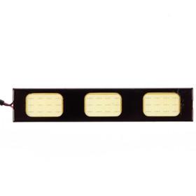 Дневные ходовые огни KS-183 СОВ, 3 диода, черный корпус, 93х4х18 мм, набор 2 шт Ош