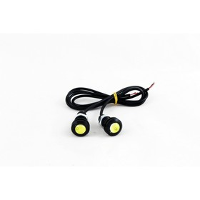 Дневные ходовые огни KS-Н003 (1 High Power LED), линза, металл, провода, 17х33х17 мм, набор 2 шт Ош