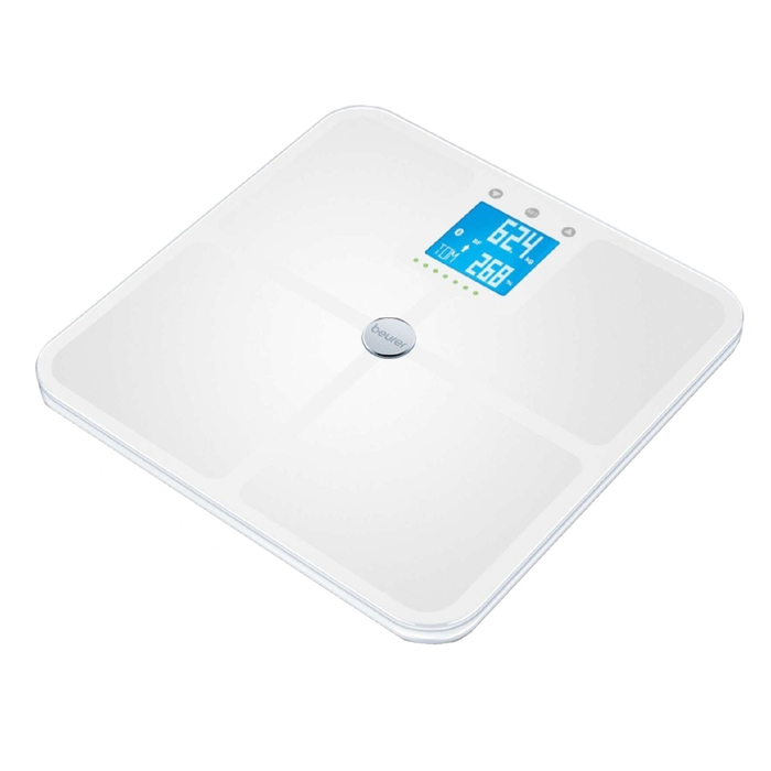 Весы напольные Beurer BF 950, диагностические, до 180 кг, 4хААА, стекло, белые