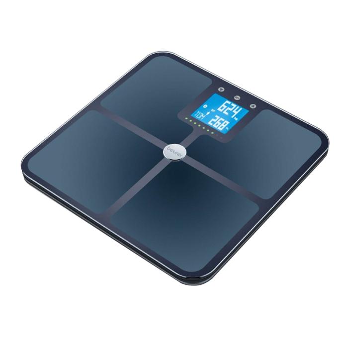 Весы напольные Beurer BF 950, диагностические, до 180 кг, 4хААА, стекло, чёрные