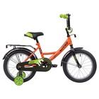 """Велосипед 16"""" Novatrack Vector, 2020, цвет оранжевый"""