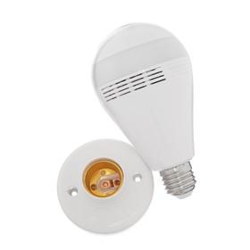 Лампа-видеокамера WiFI LuazON, мод CAM-09, управление со смартфона, 2Мр, microSD, белая Ош