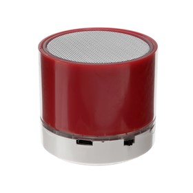 Портативная колонка LuazON, microSD, 520 мАч, 3 Вт, красная Ош