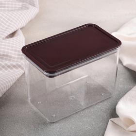 Контейнер для хранения продуктов 950 мл, цвет прозрачно-коричневый