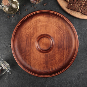 Блюдо из натурального кедра Mаgistrо, 29×4,5 см, цвет шоколадный