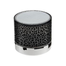 Портативная колонка LuazON LAB-30, 3 Вт, 520 мАч, microSD, цвет: черный мрамор Ош