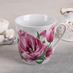 Кружка «Розовые тюльпаны», 350 мл