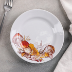 Тарелка мелкая «Грибы», d=17,5 см, гладкий край