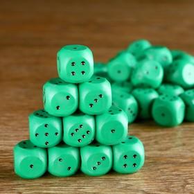 Кубик игральный 1.5х1.5х1.5 см, цветной, зеленые Ош
