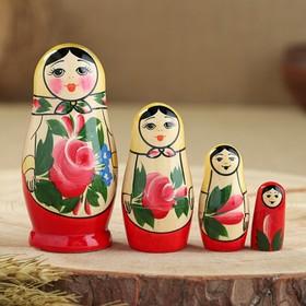 """Матрешка """"Семеновская"""", 4 кукольная, 1 сорт"""