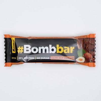 Протеиновый батончик в шоколаде Bombbar, фундучное пралине, 40 г - Фото 1
