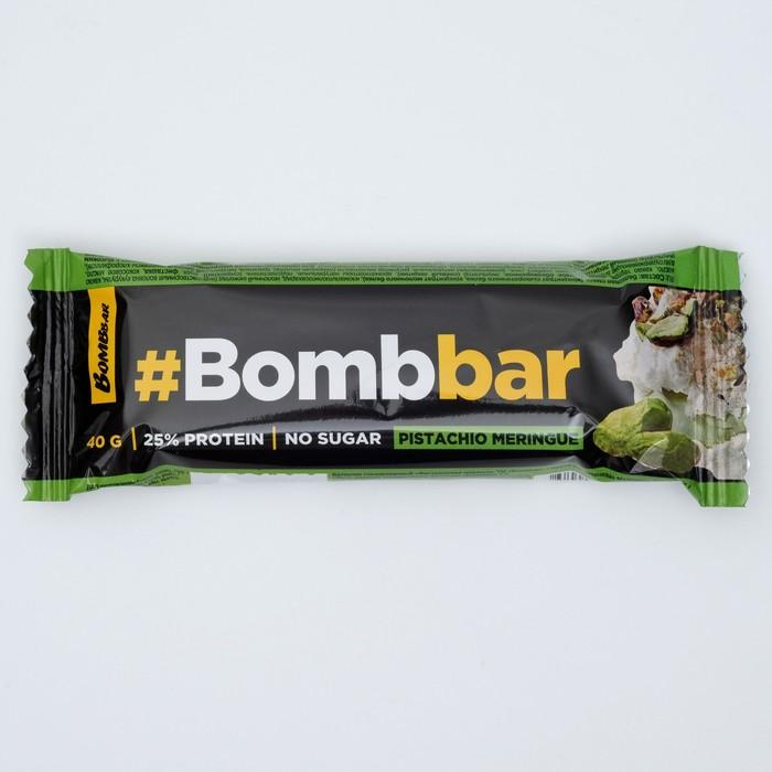 Протеиновый батончик в шоколаде Bombbar, фисташковая меренга, 40 г