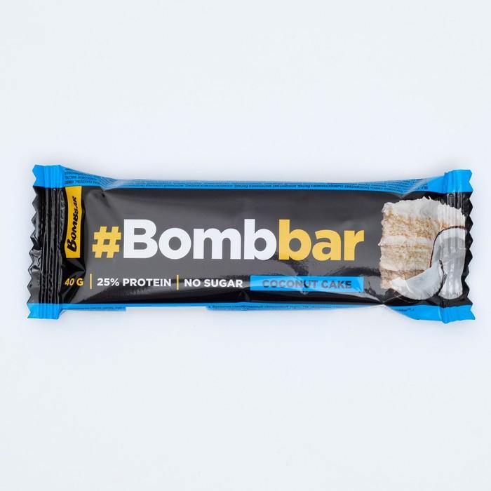 Протеиновый батончик в шоколаде Bombbar, кокосовый торт, 40 г