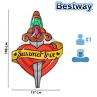Матрас для плавания Summer Love Tattoo, 198 x 137 см, 43265 Bestway