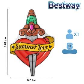 Матрас для плавания Summer Love Tattoo, 198 x 137 см, 43265 Bestway Ош
