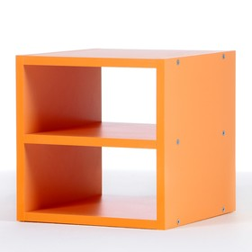 Полка-ящик для стеллажа  Кубик Рубик, Оранжевый Ош