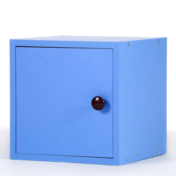 Полка-ящик для стеллажа Кубик Рубик, Синий