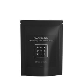 Скраб для глубокого очищения лица и тела Beautific Black D-tox, угольно-кофейный, 100 г