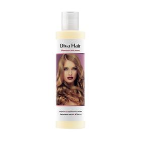 Шампунь Diva Hair, против выпадения волос и потери густоты и объёма, 200 мл