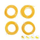 Набор лесок для триммера EGER, круг/звезда/квадрат/треугольник, d=1.6 мм, 15 м, нейлон