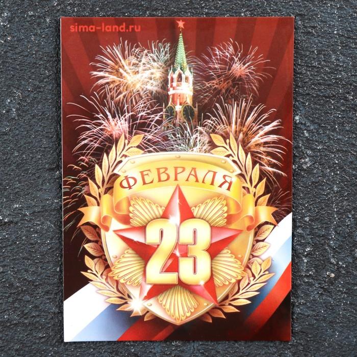 Магнит винил 23 февраля. Кремль 7х10 см