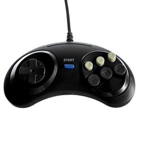Геймпад для Sega 16-bit GP-100, 6 кнопок, 8 направлений, 9-Pin, чёрный Ош
