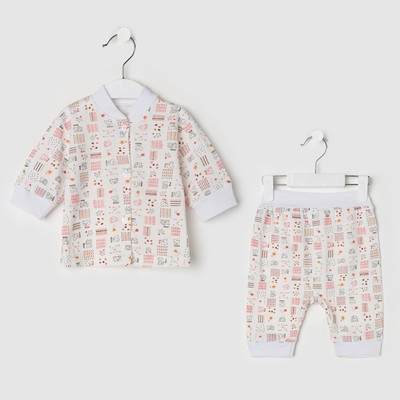 Комплект детский (кофточка, штанишки), цвет микс, рост 92 см (28) - Фото 1