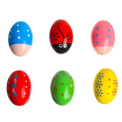 Маракас «Яйцо» 4,5×4,5×7 см МИКС