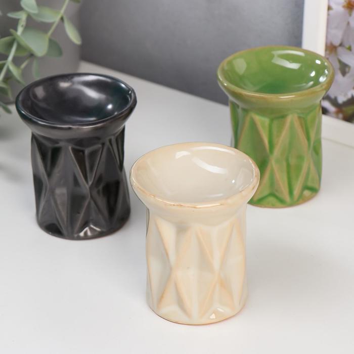 Аромалампа керамика Ромбы МИКС 7,5х6,5х6,5 см