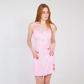 Ночная сорочка женская, цвет светло-розовый микс, размер 50