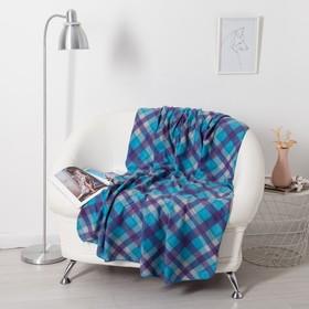 Плед Belezza Бриз 120х150см, голубой, флис, 190г/м, пэ100%