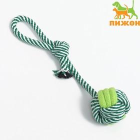 Игрушка канатная 'Мяч на веревке', 33 г, до 25 см, микс цветов Ош