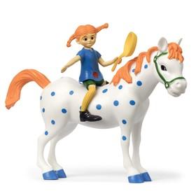 Набор кукол для домика «Пеппи и лошадь»