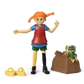 Набор кукол для домика «Пеппи и обезьянка»
