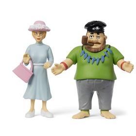 Набор кукол для домика Пеппи «Капитан и мисс»