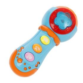 Музыкальная игрушка 'Микрофон' свет, звук, микс В ПАКЕТЕ Ош