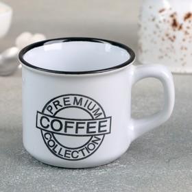 Кружка Доляна «Кофе», 165 мл, 10,5×7,5×6,7 см, цвет белый