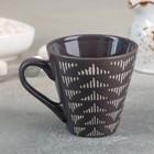 Кружка Доляна «Штрихи», 180 мл, 11×8,2×7,7 см, цвет коричневый - Фото 2